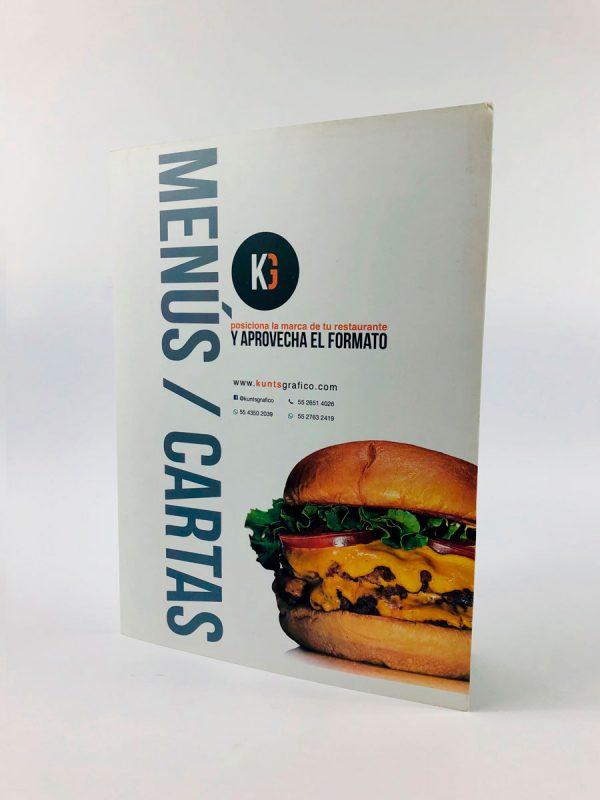 Diseño e impresión de cartas para restaurante