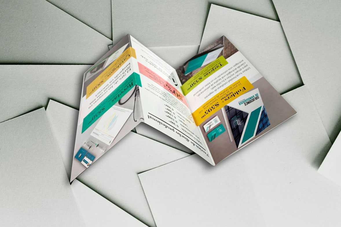 Diseño e impresión de tripticos
